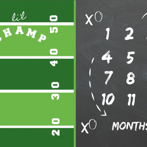 YARD 54 growth chart - lil champ football game day
