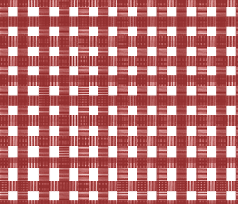 Picnic Blanket Red Check Fabric Themadcraftduckie Spoonflower Adorable Picnic Blanket Pattern