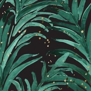 Queen Palm Emerald Black Gold Dots