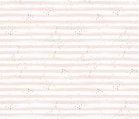blush Stripe with gold dots sprinkled fabric by crystal_walen on Spoonflower - custom fabric