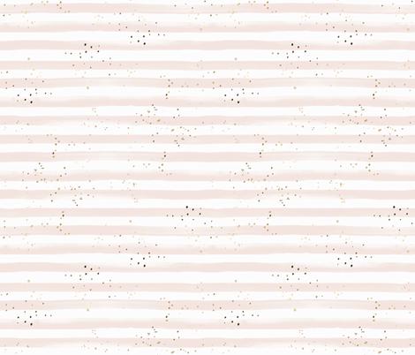 Stripe blush gold dots fabric by crystal_walen on Spoonflower - custom fabric