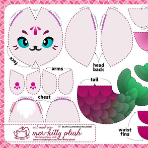 Cut & Sew Mer-kitty Plush Fuchsia