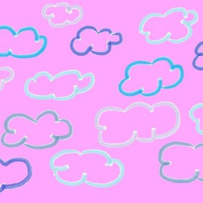Clouds blue pink