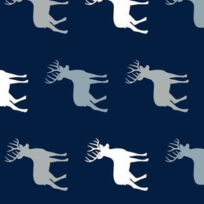 multi buck (navy, rustic woods blue, grey) buck  coordinate (90)