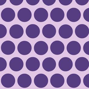 polka dot lg-lavender/violet dot