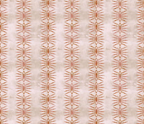 Mila stripe creme rust verticle fabric by schatzibrown on Spoonflower - custom fabric