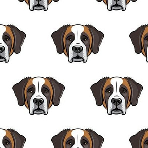 St Bernard - dog fabric