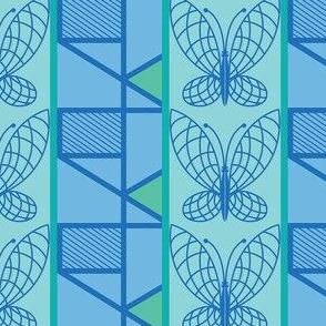 Butterfly Stripe Cornflower