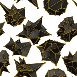 """Black and Gold Polygons 8"""""""