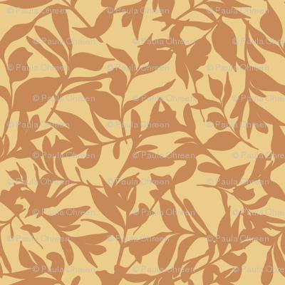 Forest Floor on Mustard