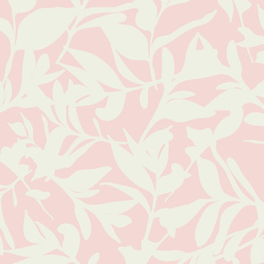 Forest Floor on Light Pink