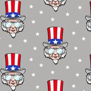 Uncle Sam w/ sunnies on grey