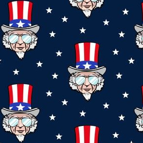 Uncle Sam w/ sunnies on navy