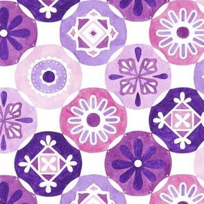 Medallions - purple