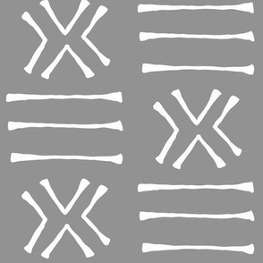 Malian Mud Cloth on Slate Grey // Large