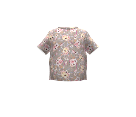 WATERCOLOR FLOWERS ON SAND TAUPE COORDINATE TO SPRING TEEPEE