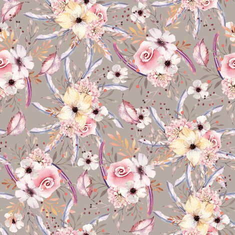 Rrwatercolor_flowers_on_sand_taupe_coordinate_to_spring_teepee_by_floweryhat_shop_preview