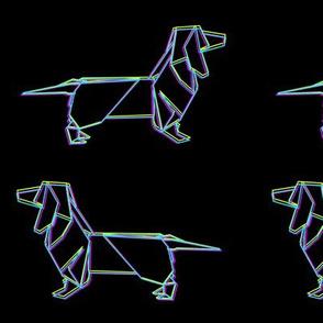 Origami Dachshund: CMYK