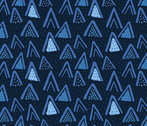 Monochrome - Abstract Triangles and Dots fabric by statement_goods on Spoonflower - custom fabric