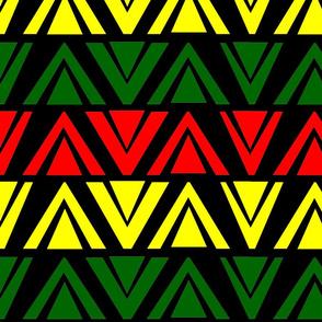 wakanda triangles red yellow green