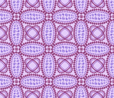 Rose Mosaic fabric by cricketswool on Spoonflower - custom fabric