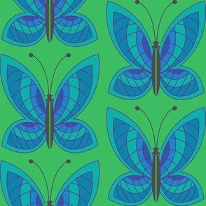 Butterfly Mosaic Azure