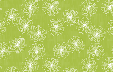 Dandelions M+M Lime by Friztin fabric by friztin on Spoonflower - custom fabric