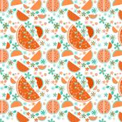 Watermelon Orange Print
