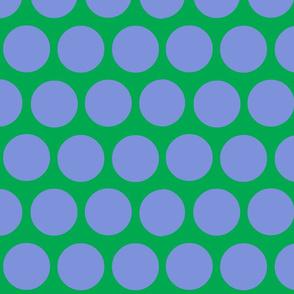polka dot lg-periwinkle/green