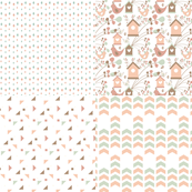 Birdhouse Sepia Fat Quarter