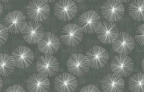 Dandelions M+M Stone by Friztin fabric by friztin on Spoonflower - custom fabric