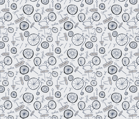 cycle-route fabric by craftwithcartwright on Spoonflower - custom fabric