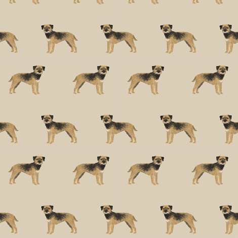 border terrier fabric - dog dogs, border terriers, tan fabric by petfriendly on Spoonflower - custom fabric
