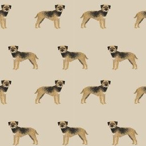 border terrier fabric - dog dogs, border terriers, tan