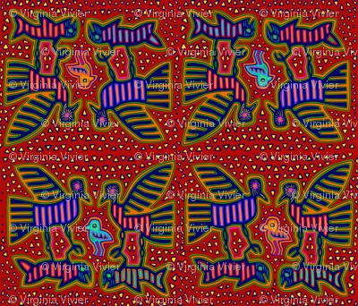 Kuna Indian Folk Art Birds