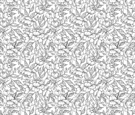 Peony Garden fabric by epine on Spoonflower - custom fabric