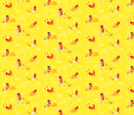 Salami Mami fabric by tr0n on Spoonflower - custom fabric