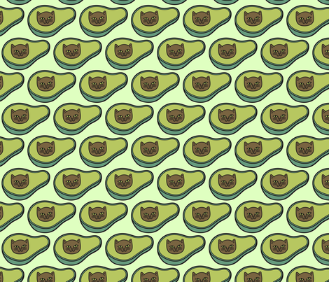 Avogato in Green Brick fabric by pinkowlet on Spoonflower - custom fabric