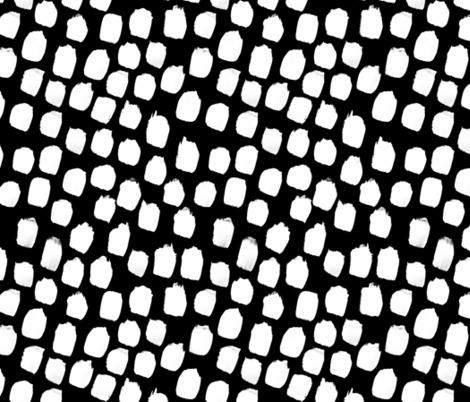 Monochrome Big Blobs Black fabric by amywalters on Spoonflower - custom fabric