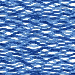 Watercolor waves in blue