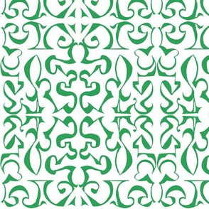 ARABESQUE Green on White