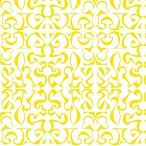 ARABESQUE Yellow on White