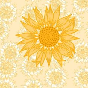 Sunflower Study in Yellow