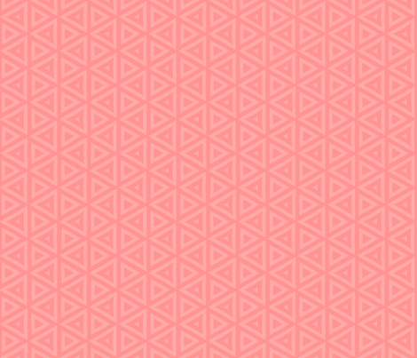Pink Coral Triangles fabric by mariafaithgarcia on Spoonflower - custom fabric
