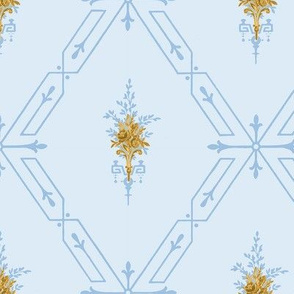 Lethal Lattice with Gold Flowers - Med