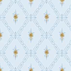 Lethal Lattice with Gold Flowers - Sm