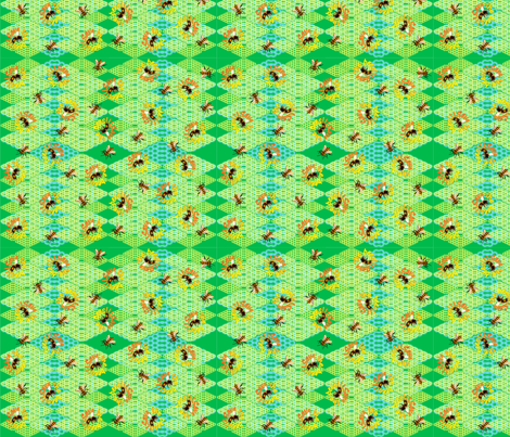 save_the_bees fabric by quizzicalkittydesigns on Spoonflower - custom fabric