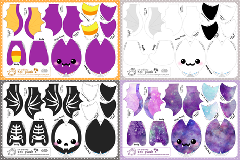 a7be66d25 Cut   Sew Bat Plush Bundle New fabric - sewdesune - Spoonflower