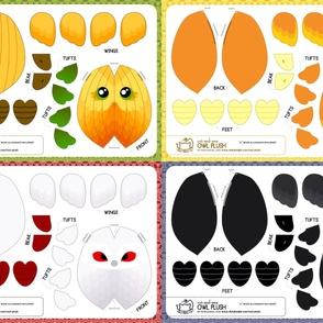Cut & Sew Owl Plush Bundle Halloween