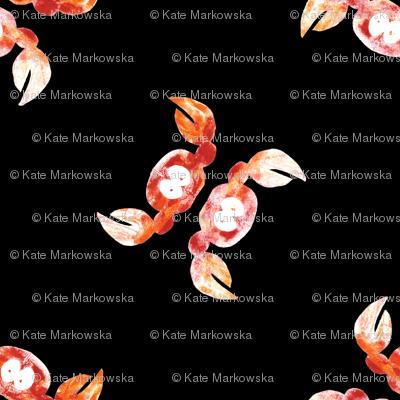 orange crabs on black background